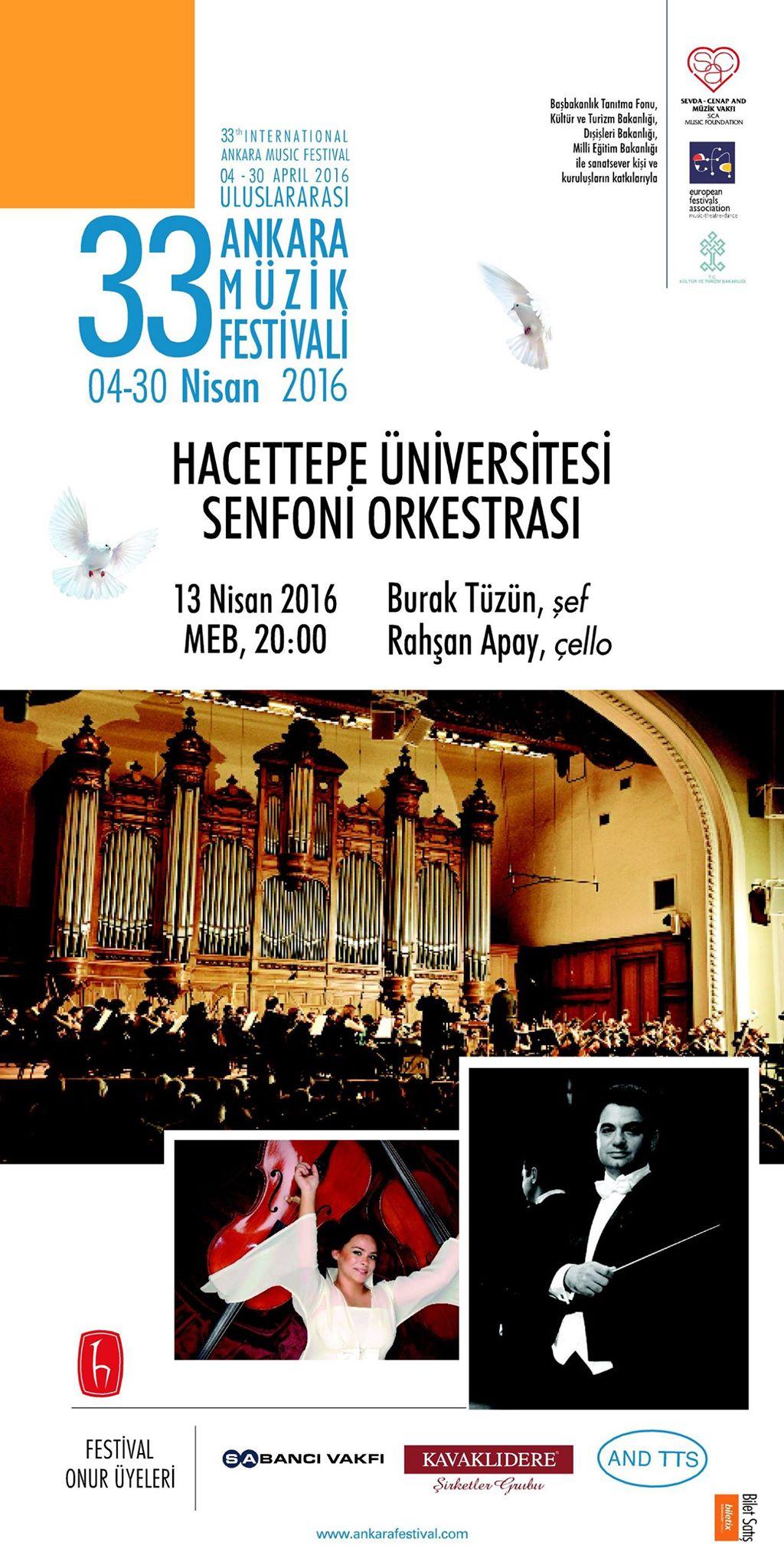 33. Uluslararası Ankara Müzik Festivali - POSTER